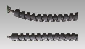 Bidirectional spiral rubber upper and lower roller
